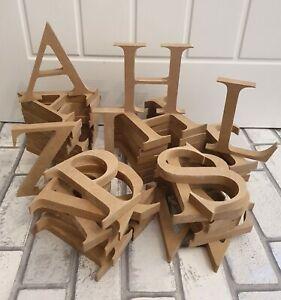 MDF 18mm Free Standing Wooden Letters 8cm, 10cm, 12cm, 15cm, 20cm, 30cm, 40cm