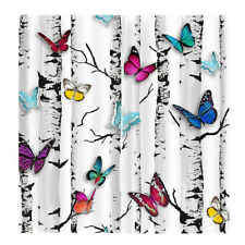 2 Panels 3D Butterfly Print Animals Door Curtains Bedroom Blackout Drapes