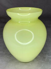 """Crate And Barrel Yellow Ballet Vase Pastel 7.25"""" With Tags-Poland"""