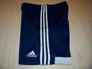 ADIDAS CLIMACOOL NAVY BLUE W/WHITE STRIPES ATHLETIC SHORTS BOYS XL EXCELLENT