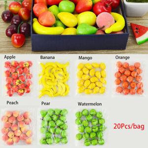 20PCS Mini Simulation Foam Plastic Fake Artificial Fruit Party Kitchen Decor CA