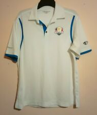 RYDER CUP 2012 MEDINAH COUNTRY CLUB WHITE POLO SHIRT CREST LINK CITYGOLF L/XL 46