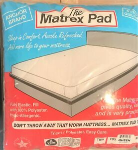 Quilted Mattress Pad Topper With Anchor Band MADE IN USA, Economical!
