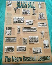 "The Negro Baseball Leagues Large Poster - ""Blackball"" - New!! - Original Packing"