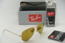 New Authentic Ray-Ban RB 3025 112/93 58mm Matte Gold Frame Brown Mirror Gold
