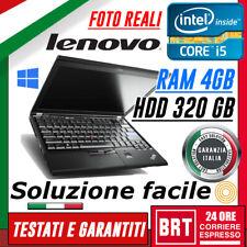 "PC NOTEBOOK LENOVO THINKPAD X220 12"" CPU i5 4GB RAM HDD 320GB +KEY WIN 10 PRO!"
