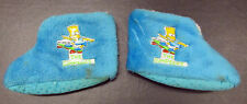 RARE Original 1990 BART SIMPSON CHILD SLIPPERS MEDIUM 7/8 SKATEBOARD GROENING