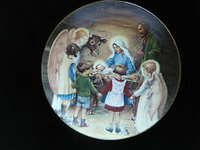 """""""Away in a Manger""""~ 2nd issue Beloved Hymns of Childhood Collector Plate"""