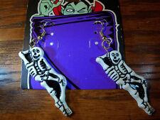 Lounging Skeleton Halloween Earrings