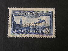 FRANCE, SCOTT # C6, AIR POST 1930-31 ISSUE 1.50fr. VALUE DEEP DEEP BLUE USED