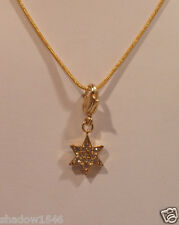 NEW Swarovski 6 Pointed Gold Star Charm With Gold Plated Necklace
