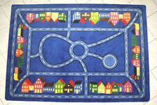 Spielteppich Straßenteppich Kinderteppich Stadtmitte  blau 160 x 240 cm  2. Wahl