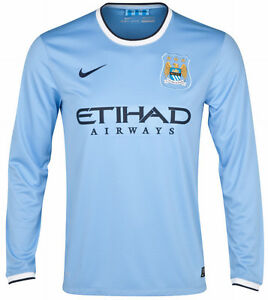 NIKE MANCHESTER CITY LONG SLEEVE HOME JERSEY 2013/14