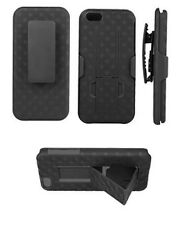 Verizon OEM Shell Holster Combo Case Clip For Apple iPhone 5C Black W/ KickStand