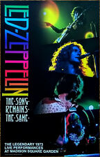 Led Zeppelin The Song Remains The Same Live At Msg 2018 Ltd Ed Rare Litho Poster