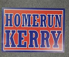 Homerun Kerry 2004 Democratic Candidate Poster