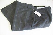 Lauren Ralph Lauren Mens Classic Fit Ultraflex Windowpane Suit Pants Gray 46x32