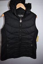 NWT! Michael Kors Women's Stand Collar Black Vest $160