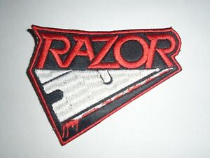 RAZOR THRASH METAL EMBROIDERED PATCH