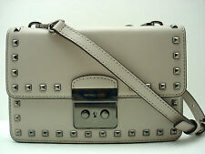 6346c92ee9835d Authentic New MICHAEL KORS Sloan Prye Guesset Crossbody Smooth Leather  Cement