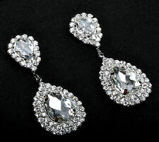 Glamorous Teardrop Crystal Earrings Bridal Wedding Accesories New Year's Party