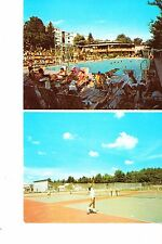 South Fallsburg, Ny Hotel Brickman Swimming Pool & Tennis Courts @ 1960