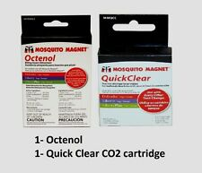 Mosquito Magnet 3pk Octenol Refill + Co2 Quickclear Cartridge Flies Insect Pest