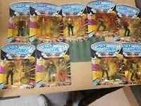 1992 Playmates Star Trek The Next Generation Action Figures MOC-lot of 9