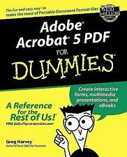 NEW - Adobe Acrobat 5 PDF For Dummies (For Dummies (Computers))