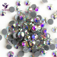 Crystal AB Iron on Hotfix Rhinestones Hot Fix Flatback Strass Stones Crystals