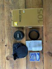 Nikon NIKKOR AF-S 105mm F/1.4 E ED Lens with filter and Nikon box Pristine!