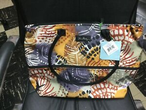 Vera Bradley LIGHTEN UP EXPANDABLE TRAVEL TOTE carry on compliant in Painted Fea