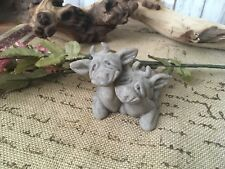 Quarry Critters ~ Cherry & Chip ~ Stone Cow Figures NWOT!