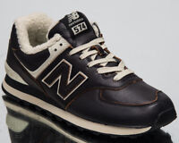 New Balance 574 Men's New Warm Dark Brown Sail Casual Sneakers Shoes ML574-WNE