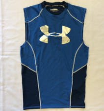 Under Armour Mens Heatgear Blue Tanktop Active Clothing Size Large *Ref110