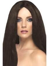 Long Brown Straight Wig, Star Style Wig, Superstar Fancy Dress Accessory #AU