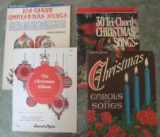 Lot 4 Piano Music Books for Christmas Song/Piano/Organ Books--Easy-Mod. Easy