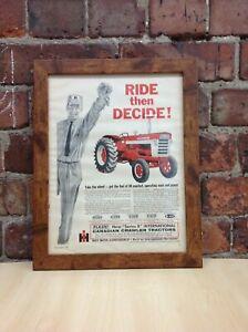 Framed Original Vintage Canadian Crawler Ad from International Harvest Sep 1962