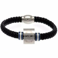 Chelsea FC Stainless Steel / Leather Crest Bracelet