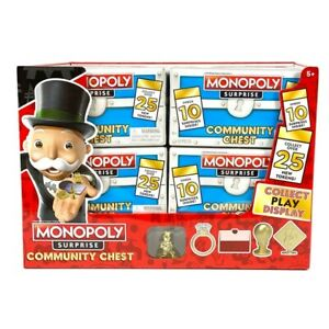 Basic Fun Monopoly Surprise Community Chest - Collectable Tokens