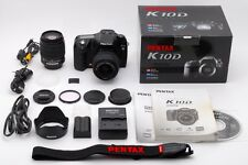 [MINT] Pentax K10D 10.2 MP Digital SLR Camera Black w/ 2 Lens From Japan #272