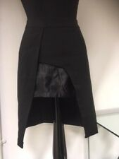 AUTUMN LADIES LAVISH ALICE BLACK SHAPED LENGTH HEM DETAIL WORK/SMART SKIRT £9