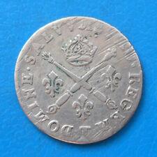 Louis XIV dix 10 sols aux insignes 1706 T Nantes