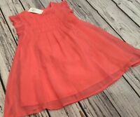 Baby Gap Girls 18-24 Months Coral Pink Dress With Bloomers. Nwt
