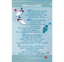 WHAT IS A DAD - PURSE WALLET KEEPSAKE VERSE PRAYER CARD 100's OF OTHERS LISTED