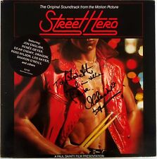 Street Hero-OST-LP-SIGNED Vince Colosimo-1984 Festival Records G/Fold- RML 53133
