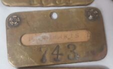 Vintage Tooele Plant International Smelting Company Brass Name Plate #743