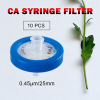 10PCS Syringe Filter .45μm Pore Size 25mm,Made In Cellulose Acetate Membrane