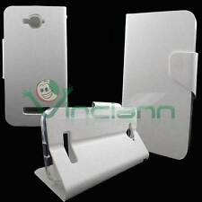 Custodia FLIP LINGUETTA cover STAND Bianco perla per Alcatel One Touch Pop C7
