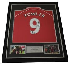 Robbie Fowler SIGNED FRAMED Shirt Photo Autograph Liverpool Football AFTAL COA